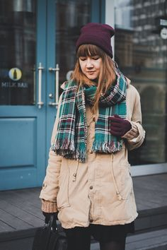 parka - newdress scarf - dresslink (buy here ) skirt - bershka bag - new look sweater - second hand Winter Clothes, Winter Outfits, Laid Back Style, My Style, Pretty Outfits, Cool Outfits, Cute Fashion, Womens Fashion, Winter Wear