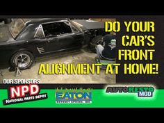 Car Front End Alignment at Home. Do it yourself alignment. We show how to align your car using the Quick Trick Alignment system. We cover order of alignment. 1965 Mustang, Old Classic Cars, Muscle Cars, Youtube, Garage, Gallery, Carport Garage, Roof Rack, Garages