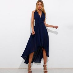 18269b36f6 Sexy V-Neck Backless Dress · Halter Maxi DressesChiffon ...