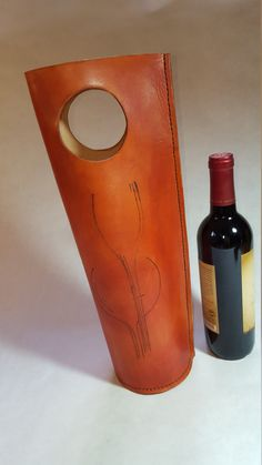 Leather Wine Carrier by MerrillCreations on Etsy