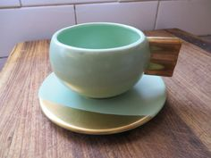 CARLTON WARE MODERNE CUP AND SAUCER - PERFECT