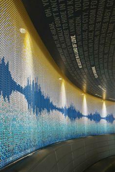 Hospitality Design Show in Las Vegas Design Show, Wall Design, Set Design, Glass Film Design, City Of Manchester Stadium, Space Dividers, Metal Curtain, Interior Decorating, Interior Design