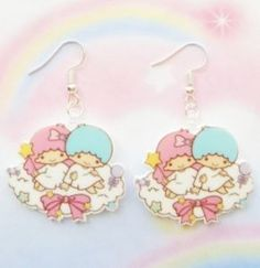 New-Kawaii-Little-Twin-Stars-Dangle-Earrings-Jewelry-Fairy-Kei-Cosplay-Anime