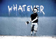 Banksy whatever boy paint brush wall B225 | Buy Banksy whatever boy ...