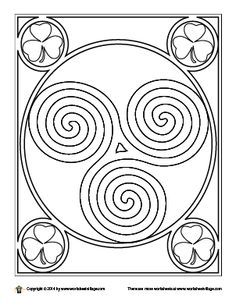 celtic spiral coloring page