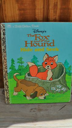 Wrap up several Little Golden books and have your child open one each night for a bedtime story while you are on vacation. Vintage Walt Disney Little Golden Book 1981 The Fox And The Hound Hide And Seek