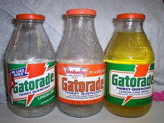 Gatorade in Glass Bottles