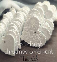 Salt Dough Christmas Salt Dough Christmas Ornament Tutorial We have made these for many years. My cookie cutters get used a lot for this. also can make a cinnamon dough too that is awesome! Christmas Projects, Holiday Crafts, Holiday Fun, Christmas Ideas, Salt Dough Christmas Ornaments, Clay Ornaments, White Ornaments, Christmas Ornaments Handmade, Beaded Ornaments