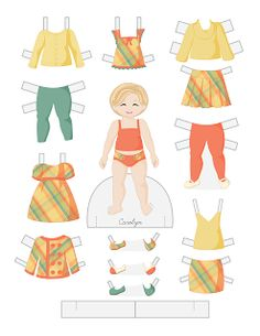 Paper Doll School: Toddler Fashion Friday - Carolyn