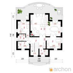 Dom w fiołkach Villas, Floor Plans, Architecture, Projects, House, Arquitetura, Mansions, Villa, Architecture Illustrations