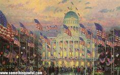 Flag over the Capitol ~  Thomas Kincade