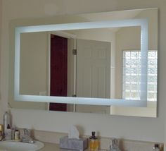 """Our MAM86036 Front Lighted LED Mirror 60"""" wide x 36"""" tall"""
