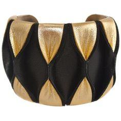 Lili Palouli Bijoux Leather Cuff ($54) ❤ liked on Polyvore featuring jewelry, bracelets, black, leather jewelry, cuff bangle, leather bangles, cuff jewelry and braid jewelry