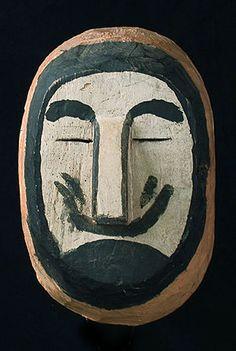 Wichi Indian mask, Northern Argentina, white man