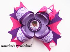 Doc McStuffins Hair Bow - Doc McStuffin Hair Bow - Doc Hair Bow - McStuffins Hair Bow - Pink and Purple Hair Bow