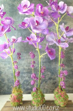 orchid kokedama artificial flower Studio 100 style