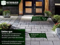 La #arquitectura moderna y una perfecta combinación de #adoquines da una construcción agradable.