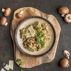 🍴Jáhlové rizoto s houbami recept – rychle, zdravě a jednoduše 🍴 Jimezdrave.cz Hummus, Ethnic Recipes, Food, Essen, Meals, Yemek, Eten