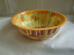 Circles and Stripes Medium Papier Mache Bowl by ContainedHappiness, $20.00