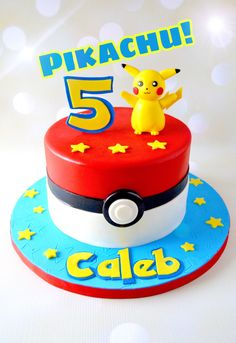A personal favorite from my Etsy shop https://www.etsy.com/listing/498007409/pikachu-cake-topper-pokemon-cake-topper