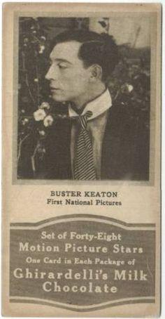 1920's Ghiradrdelli's Milk Chocolate Buster Keaton