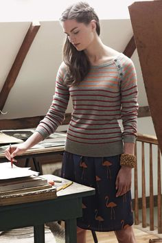 One Day...jumper lust. {Gradated Stripes Pullover from anthropologie £78.00}