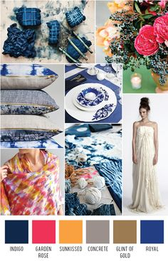 Indigo batik wedding inspiration - http://ruffledblog.com/the-notwedding-birmingham/