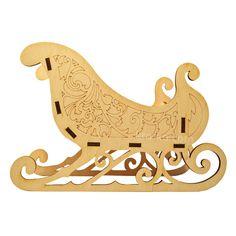 Купить деревянную большую модель сани, в интернет-магазине Kroko&woodi