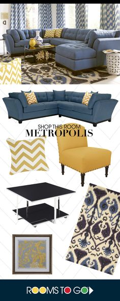 Bring versatile, stylish seating into your living room with the Metropolis sectional. Each piece is quality constructed on a hardwood frame for lasting wear, and covered with velvety soft, easy care, indigo colored Microfiber Plush fabric. Room, Living Room Sofa, Family Room, Home, Home Furniture, Home Remodeling, Apartment Decor, Room Colors, Home And Living