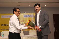Mr. C.H. Nadiger, Regional Director, EEPC India (SR) , greeting Mr. Balaji, VP -Kotak Mahindra