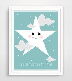 Twinkle Twinkle Little Star Sweet Faced Star  Light by KZukowski