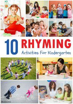 10 Best Rhyming Activities For Kindergarten