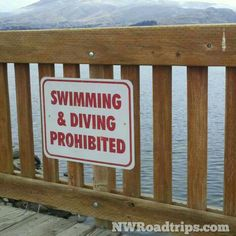 Rules! Rules! Rules!  #NoSwimming #NoDiving #pedestrianbridge #bridges #Wenatchee #ColumbiaRiver #signs #RoadTrip #NWRoadtrips
