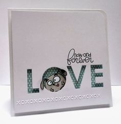 Now and Forever Love card by Katy Skipton - Paper Smooches - Chubby Chums