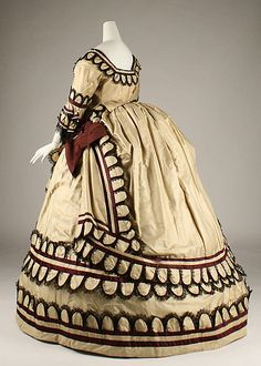 1868 British Silk Dress