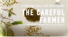 The Careful Farmer: A Theraputic Approach to our Yoga Practice w/ Carrie Owerko @ Yogamaya New York...3 TUESDAYS: MARCH 31, APRIL 28TH, MAY 26TH 2:00PM-5:00PM