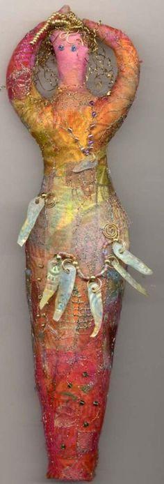 goddess dolls, spirit doll, goddesses, art doll, seed beads, textil, dolli, doll fabric