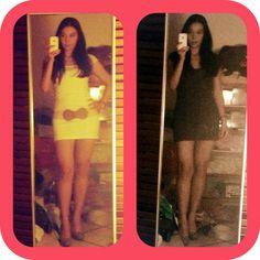 White dress / blue dress