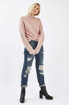 Topshop Mixed Stitch Sweater