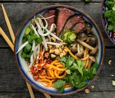 beef pho with beech mushrooms and sweet potato noodlesReclaiming Yesterday