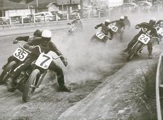 Flat trackers. Old school hard core riders