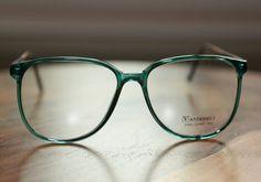 Vanderbilt 1980s Large Round Green Eyeglasses by JustheGoodStuff, $15.00
