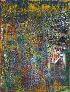 In the 1980s, Gerhard Richter diversified his abstract paintings by using a squeegee, such as in 'Abstract Painting' (CR: 709).