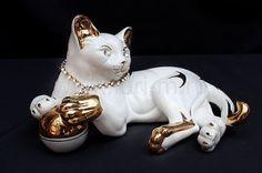 Статуэтка Кошка 25см. в подарочной упаковке (х6) Фарфор 118-228-065
