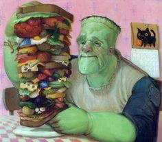From the book Frankenstein Makes a Sandwich, by Adam Rex.