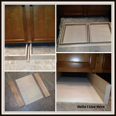 under cabinet drawers, diy, how to, kitchen cabinets, kitchen design, woodworking projects, Installing the drawers and cradles under the cabinet