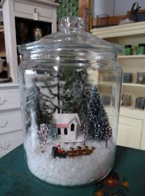 Capture the Imagination....With a Super Easy Christmas Display           I was lucky...awhile back I came across several of these large, ...