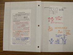 """In a few posts I have mentioned that my class """"does"""" interactive note taking. For those of you that are not sure what interactive note takin. Social Studies Notebook, 6th Grade Social Studies, Teaching Social Studies, Teaching History, Teaching Science, Teaching Reading, Reading Resources, Interactive Student Notebooks, Science Notebooks"""