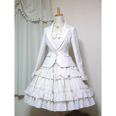 Mary Magdalene Lolotte OP Albino Lolita - w/o the jacket please! Kawaii Fashion, Lolita Fashion, Cute Fashion, Look Fashion, Pretty Outfits, Pretty Dresses, Beautiful Outfits, Cute Outfits, Emo Outfits