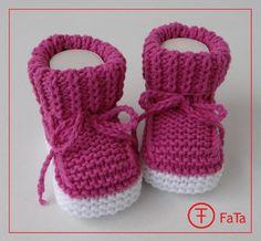 8,5 cm  Babyschuhe Taufschuhe Baumwollmischung von FaTa-Shop auf DaWanda.com